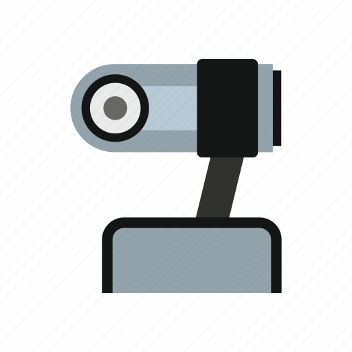 camera, computer, conference, lens, technology, video, webcam icon