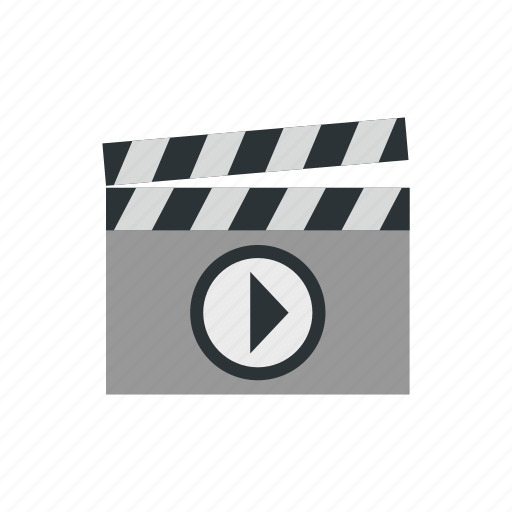 cinema, clap, clapboard, film, movie, play, video icon