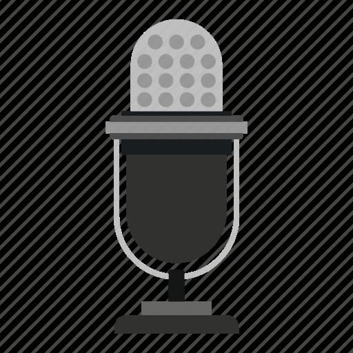 audio, equipment, mic, microphone, retro, sound, studio icon