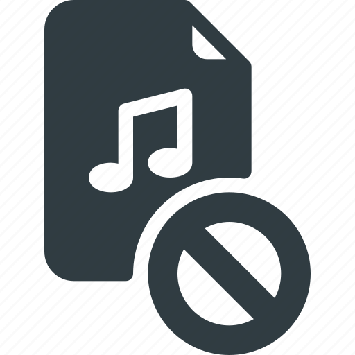 Sound, audio, music, disable, file icon