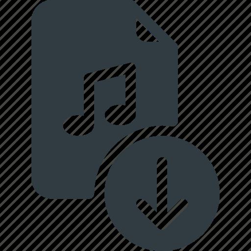 Download, sound, audio, music, file icon