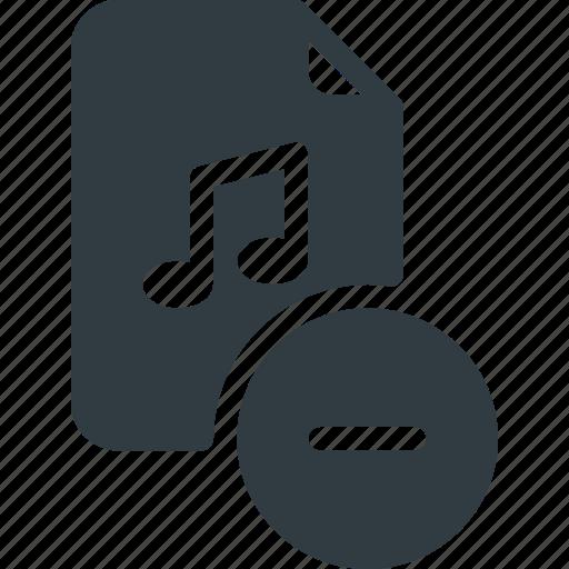 Sound, audio, music, file, remove icon