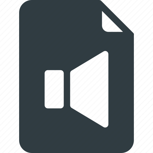 Sound, music, audio, speaker, file icon