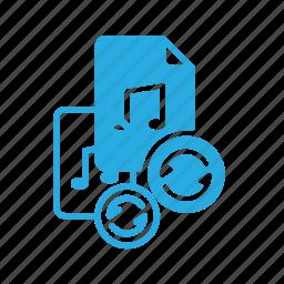 audio, file, music, reload, sound icon