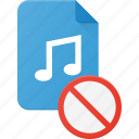 audio, disable, file, music, sound icon