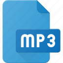 audio, file, mp3, music, sound icon