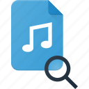 audio, file, music, search, sound icon