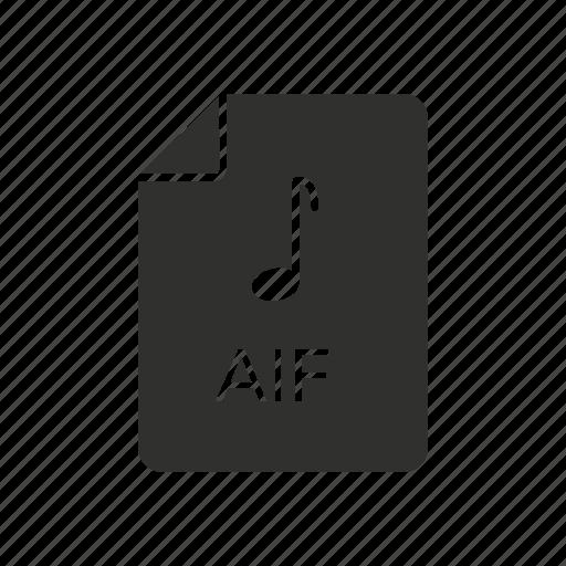 aif, aif file, audio icon, audio interchange file format icon