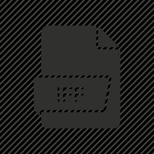 iff file icon, iff logo, interchange file format, music file icon