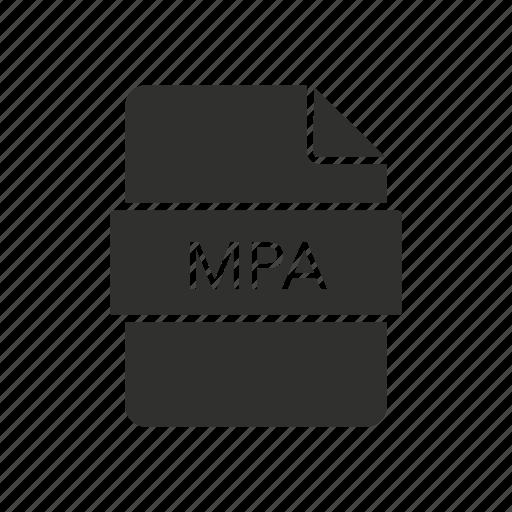 mpa file, mpeg - 2 audio file, music, music file icon