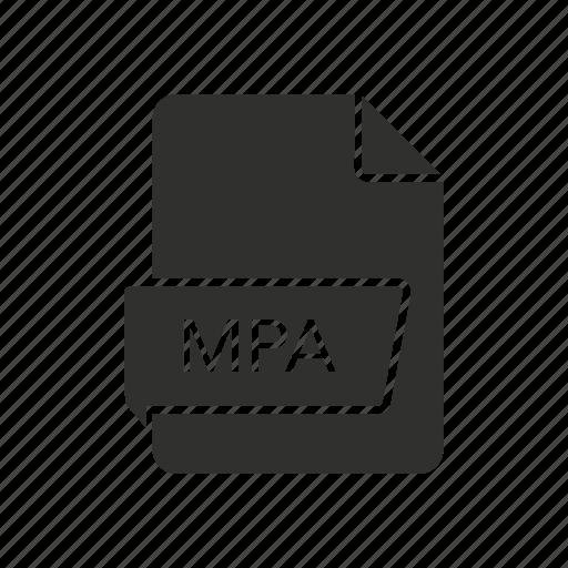 audio file, mpa file, mpeg-2 audio file, music file icon