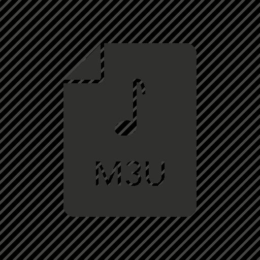 audio code, m3u file, music, music file icon