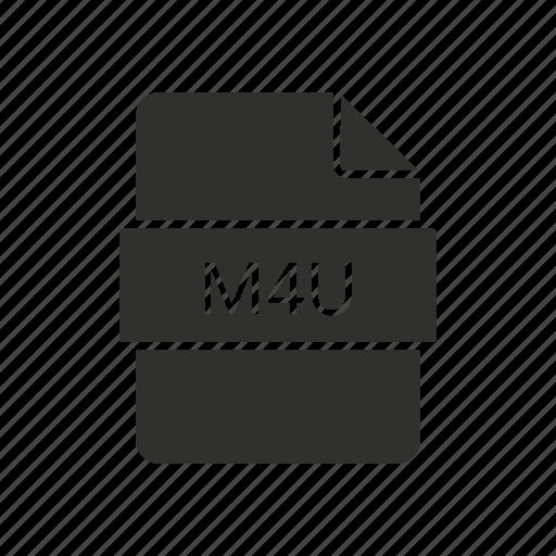 m4u, movie, music file, tv show icon