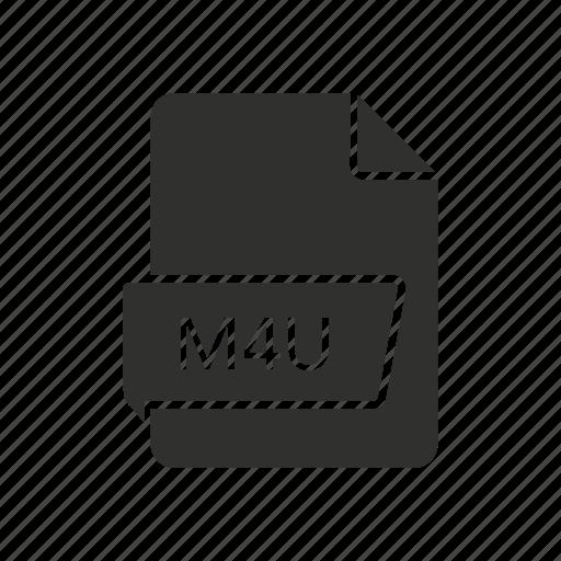 audio file, m4u, movie, music icon