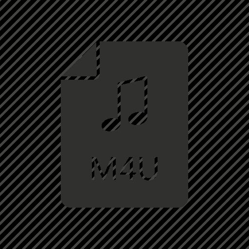 audio code, m4u, music, music file icon
