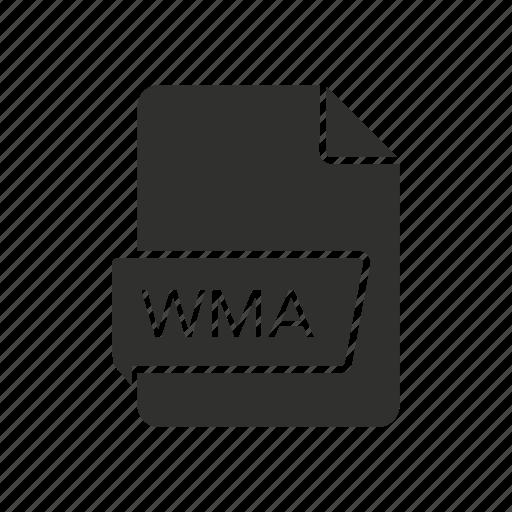 audio code, code, wma, wma file icon