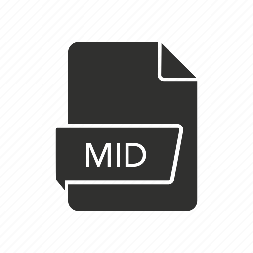 audio file, mid, mid file, music file icon