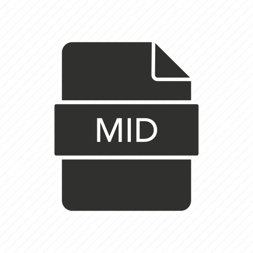 mid, mid file, music, music file icon