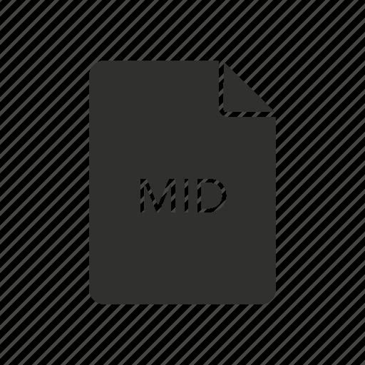 audio file, file, mid, mid file icon
