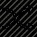 audio, music, random, shuffle icon