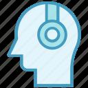 headphone, listening, music, person, user