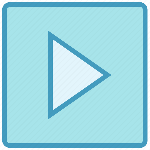 button, multimedia, play, player, video play icon