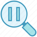 find, magnifier, multimedia, pause, search video icon