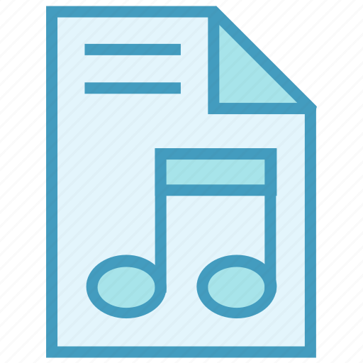 document, file, music, paper, sheet music icon