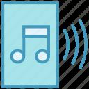 audio page, file, music, paper, sheet music