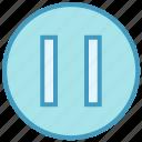 audio control, button, media button, multimedia, pause icon