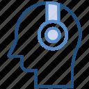 headphone, listening, music, person, user icon