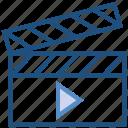 clapboard, director, film, movie, multimedia, shooting icon