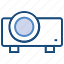 electronics, film, multimedia, projection, projector icon