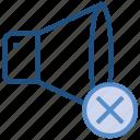 cross, multimedia, music, music sound, speaker, volume icon