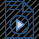 file document, multimedia, music, paper icon