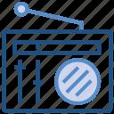 multimedia, radio, radio set, technology, transmission icon