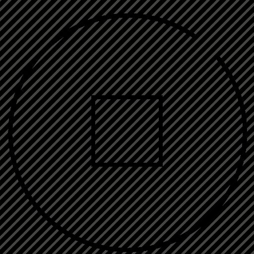audio, music, record, sound, stop, video icon