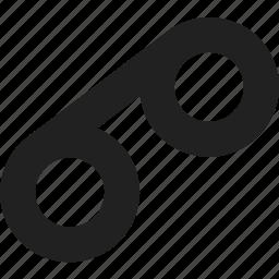 diagonal, tape icon