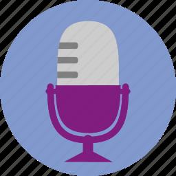 audio, mic, microphone, music, sound, vintage icon