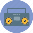 audio, cassette, music, radio, sound, tape icon