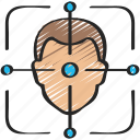 augmented, facial, reality, recognition icon