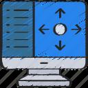 augmented, computer, controls, program, reality, tilt icon