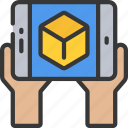 app, ar, augmented, interactive, reality icon