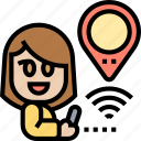 tracking, device, signal, location, map