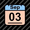 calendar, date, schedule icon, sep, september, su icon