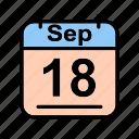 calendar, date, mo, schedule icon, sep, september icon