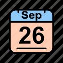 calendar, date, schedule icon, sep, september, tu icon