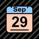 calendar, date, fr, schedule icon, sep, september icon