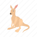 wildlife, australia, kangaroo, animal, mammal, cartoon