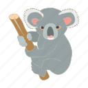 animal, australia, cartoon, character, cute, koala, mammal icon